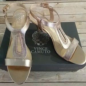 Vince Camuto Rose Metallic Nappa Blingy Heel